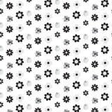 A flor preta e de prata da mistura da máscara denomina o fundo do teste padrão Foto de Stock