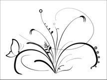 Flor preta, vetor Imagens de Stock