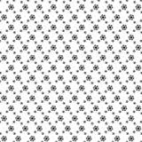 Flor preto e branco com fundo linear do teste padrão de flor Foto de Stock Royalty Free