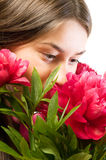 Flor que huele Fotos de archivo