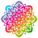 Flor redonda colorida isolada no branco Imagens de Stock Royalty Free
