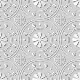 flor redonda de Dot Line Frame da arte do Livro 3D Branco Imagens de Stock Royalty Free