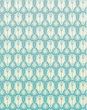Flor retra azul Backgrou del damasco del modelo inconsútil Imagenes de archivo