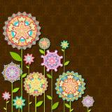 Flor retra colorida Fotos de archivo