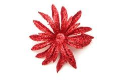 Flor roja artificial Foto de archivo libre de regalías
