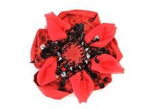 Flor roja de la broche aislada en el fondo blanco Foto de archivo libre de regalías