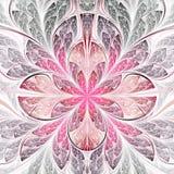 Flor roja del fractal ilustración del vector