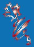 Flor roja en un fondo azul. Foto de archivo libre de regalías