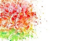 Flor roja hermosa Imagen de archivo libre de regalías