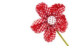 Flor rojo diagonal de la flor de la pañería Fotografía de archivo