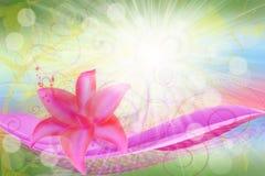 Flor rosada ilustración del vector