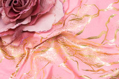 Flor rosada artificial foto de archivo