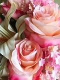 Flor rosada de la tela Imagen de archivo libre de regalías