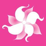 Flor rosada decorativa Foto de archivo libre de regalías