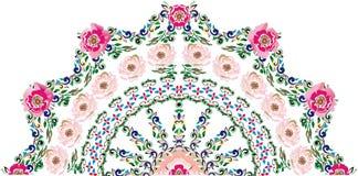Flor rosada del brier a medias alrededor del diseño ilustración del vector