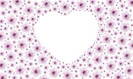 Flor rosada del corazón Foto de archivo libre de regalías