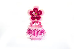 Flor rosada del juguete Foto de archivo