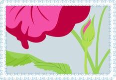 Flor rosada del vector Imagen de archivo libre de regalías