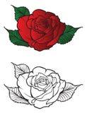 Flor Rosas no estilo da tatuagem Fotografia de Stock