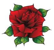 Flor Rose en estilo del tatuaje Foto de archivo