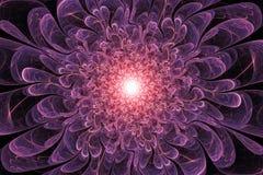 Flor roxa fantástica do Fractal Imagens de Stock