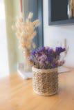 Flor secada no vaso, ramalhete de flores secadas no vaso Fotografia de Stock Royalty Free