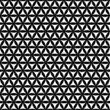 Flor sem emenda preta do teste padrão da vida - fundo sagrado da geometria - a maioria de teste padrão mágico no mundo Foto de Stock Royalty Free