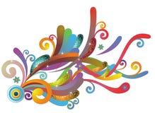 Flor shinning abstrata ilustração royalty free