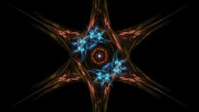 Flor simétrica - diseño del arte del fractal stock de ilustración
