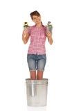 Flor sonriente Fotografía de archivo libre de regalías