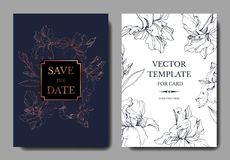 Flor suculento botânica da selva do vetor Ilustração gravada da arte da tinta Beira decorativa do cartão do fundo do casamento ilustração stock