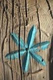 Flor tallada simple de la turquesa Fotografía de archivo