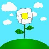 Flor tirada dos desenhos animados - margarida Foto de Stock Royalty Free