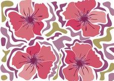 Flor tropical da praia - cor-de-rosa ilustração stock