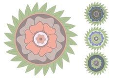 Flor tropical del vector estilizado Fotografía de archivo libre de regalías