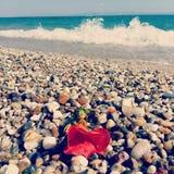Flor tropical en la playa Imagen de archivo