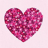 Flor Valentine Heart Pattern no laço Imagem de Stock Royalty Free