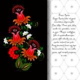 Flor vector en la pintura tradicional ucraniana Imagen de archivo libre de regalías