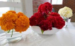 Flor & vela usadas para um funeral Fotos de Stock