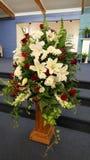 Flor & vela usadas para um funeral Imagem de Stock Royalty Free