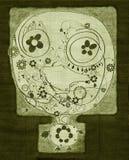 Flor verde de la cara ilustración del vector