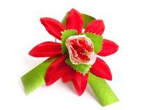 Flor vermelha artificial fotografia de stock