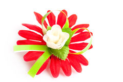 Flor vermelha artificial imagem de stock royalty free