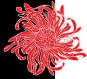 Flor vermelha e preta ilustração stock
