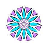 Flor violeta e azul Mandala da flor fotografia de stock royalty free
