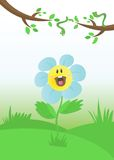 Flor y dos orugas Fotos de archivo
