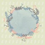 Flor y hojas dibujadas mano del vintage Imagen de archivo libre de regalías