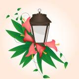 Flor y linterna de la cala Fotografía de archivo libre de regalías