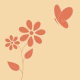 Flor y mariposa Fotografía de archivo