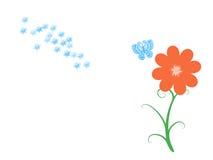 Flor y mariposas ilustración del vector